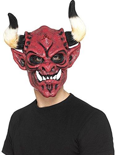 l Maske, Ganzer Kopf, One Size, Rot, 45018 (2017 Halloween Requisiten)
