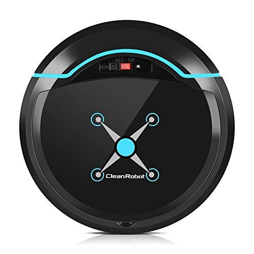 Roboter Bodenreiniger (Automatischer Staubsauger Roboter Boden Reiniger USB aufladbarer intelligenter Haushaltsfegender Maschinen Saugreiniger(Schwarz))