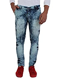 Aarzu Style Mens Blue Commondo Wash Style Jeans