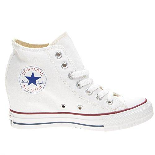 Converse Damen-sneaker, Keil (Converse Unisex-Erwachsene All Star Lux Mid Hi Keil Sneaker, Weiß, 38 EU)