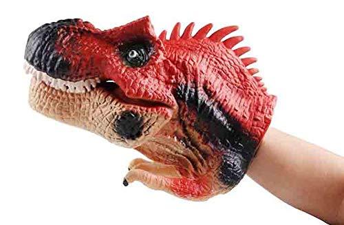 Qwqw Tierhandschuhe Handpuppen Puppen Gummi Dinosaurier Handpuppen Geschichtenerzählen Requisiten Lustige Spielzeug Simulation Tier Dinosaurier Puppe Halloween, Weihnachten, Geburtstagsgeschenk (Puppe Halloween Marionette)
