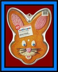Wilton Giant Bunny Face Cookie Treat Brownie Pan (2105-6205, 1998) ~ Retired Collectible by Wilton - Giant Cookie Pan