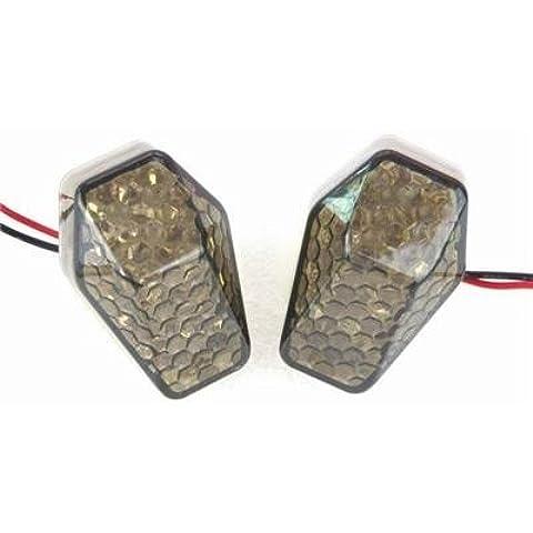 Estilo THG 2x JDM montaje empotrado Lente Humo 15 LED ¨¢mbar Encienda la luz de se?al Indicador Blinker para Suzuki GSX-R 600 1000 750 01-06