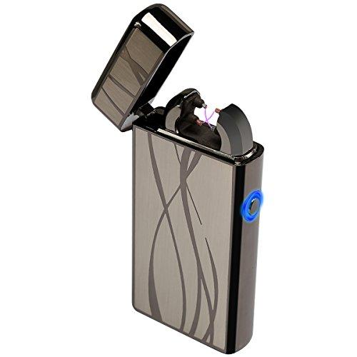 Kivors&reg Band Elektronisches Feuerzeug Tragbar USB Aufladbar Dopple Lichtbogen