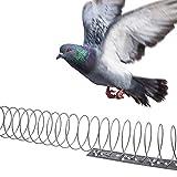 Gardigo Vogelabwehr Spirale | 4 Spiralen je 125 cm, Gesamtlänge 5 m | Taubenabwehr aus Edelstahl | Vogelschutz für Balkon, Fenstersims, Dachkasten