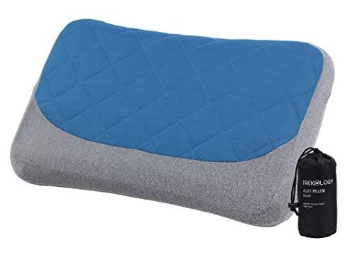 Trekology cuscino lombare gonfiabile da viaggio:Cuscino per la schiena comprimibile portatile con una comoda federa, per automobile, ufficio, aereo, viaggio, relax, attività all\'aria aperta, campeggio