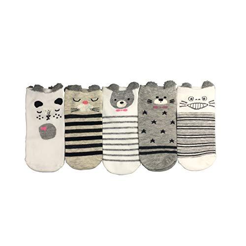 Lifeney 5 Paar Baumwolle Kinder Socken - niedliche Socken für Mädchen - lustige Socken - Mädchen Füßlinge (Lustig, Paar Niedlich,)