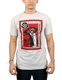 Rage Against The Machine - - Briefmarke Herren T-Shirt in Silber, Medium, Silver