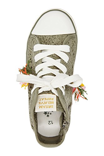 next Chaussures De Tennis Montantes En Crochet (Fille) Standard Fille Kaki