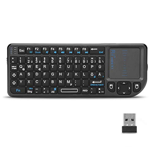 Rii X1 2.4GHz Mini Tastatur Wireless mit Touchpad-Maus und Multimedia Tasten, Mini Wireless...