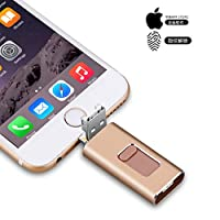 USB 3.0 Flash Drives for iPhone 4 in 1 Thumb Drive Lighting Pendrive IOS External Storage Compatible with iPad/Andriod Phone/Type C Mobile Phones/Mac/Computers (256GB, Silver)