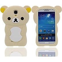 Funda Samsung Galaxy S4 ( Amarillo claro ), Animales Linda Pequeño Oso Apariencia Suave Silicona Gel / Agarre Cómodo Ajuste Perfecto Carcasa Case para Samsung Galaxy S4 i9500