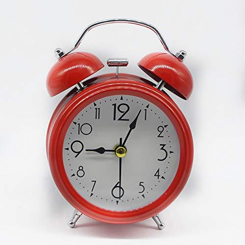 GYCZC Reloj Despertador De Campana De Metal De 3 Pulgadas