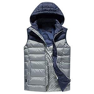 WINLISTING Winter Herren Smart USB Elektrische Heizung Warme Daunenjacke Baumwollwarme Starke Weste Jacke Oberseite