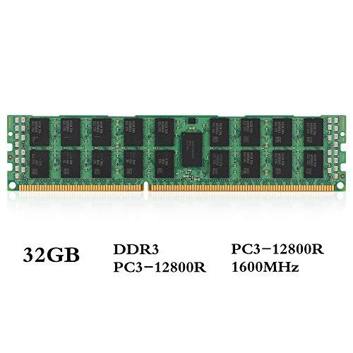 Tangxi DDR3-Arbeitsspeicher RAM, DDR3 32 GB Speicher, 1600 MHz, 1,5 V, PC3-12800R, 240Pin, 4R * 4 ECC-REG-Serverspeicher X58 X79, Hochwertiger Desktop-Speicher für Universal-Motherboards