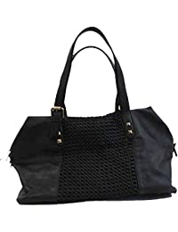 1dda98d1c4b19 BZNA Bag Serena schwarz Italy Designer Damen Handtasche Ledertasche  Schultertasche Tasche Leder Shopper Neu