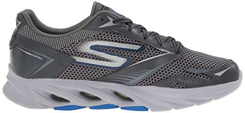 Skechers SkechersGo Run Vortex - Scarpe Running, Uomo Grigio (CCBL)