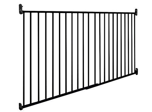 Impag Outdoor Schwarz Türschutzgitter Treppenschutzgitter Absperrgitter von 88 – 140 cm - 2