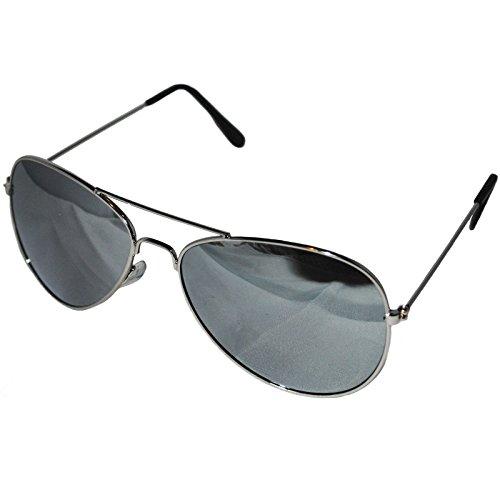 Silber mirroed Objektiv Top Gun Aviator Stil Sonnenbrille Unisex verspiegelt Wayfarer Fashion Shades Elegant