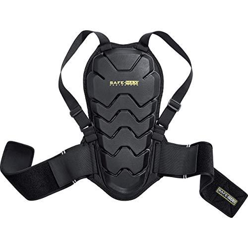 Safe Max® Motorrad-Umschnallrückenprotektor Rückenprotektor 04, Schutzklasse 2, sehr hohe Flexibilität, leichtes und flaches Design, integrierter Nierengurt, Schwarz, M