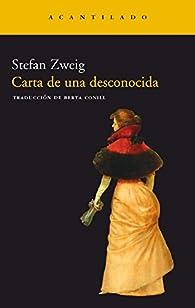Carta de una desconocida par Stefan Zweig