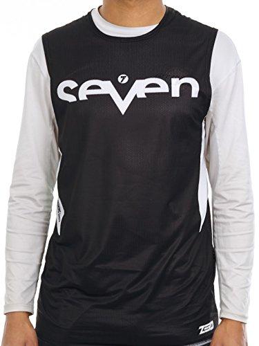 41d83b91d55ba Camiseta De Motocross Sin Mangas Seven Mx 2018 Zero Staple Negro (S