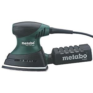 Metabo 600065500 600065500-Lijadora Triangular para Madera FMS Intec (Base Grande) 200W con maletín, 200 W