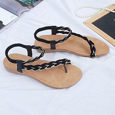 Rtry Femmes Confort Printemps Sandales En Plein Air Pu Talons Plats Us8.5 / Eu39 / Uk6.5 / Cn40