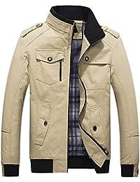 Elecenty Giacche e cappotti da uomo Cappotto con cerniera lungo e sottile  Capispalla giacca invernale uomo 05d4ccc5169