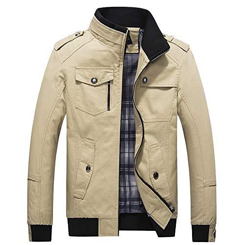 Elecenty Giacche e cappotti da uomo Cappotto con cerniera lungo e sottile Capispalla giacca invernale uomo caldo
