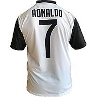 JUVE Camiseta de Fútbol Cristiano Ronaldo 7 CR7 Juventus F.C. Home Temporada 2018-2019 Replica Oficial con Licencia - Todos Los Tamaños Niño (2 4 6 8 10 12 AÑOS) y Adulto (S M L XL) (M Medium)