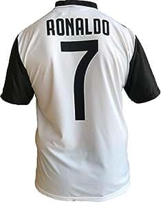 JUVE T-Shirt Maillot de Football Cristiano Ronaldo 7 CR7 Juventus Nouveau Saison 2018-2019 Replica Officiel avec Licence - Tous Les Tailles Enfants (2 4 6 8 10 12 Ans) et Adultes (S M L XL) (2 Ans)