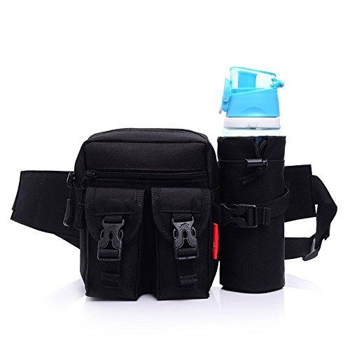 Galopar Außen Camping Hüfttasche Sport wasserdicht Hüfttasche mit Kettle Tasche Laufen Gürteltasche Pouch Gürteltasche für Wandern Laufen Radfahren Camping Reise Klettern