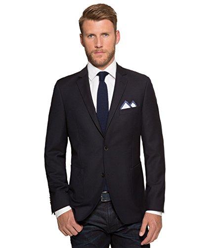 Michaelax-Fashion-Trade - Veste de costume - Uni - Manches Longues - Homme Bleu - Bleu marine
