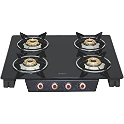 Elica Glass 4 Burner Gas Stove (SPACE ICT 460 BLK S)
