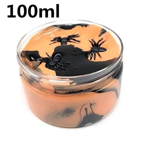 Cossll498 Halloween Spinne Schleim Putty Schlamm Clay Plasticine Schlamm Stress Relief Kinder Spielzeug 100ml