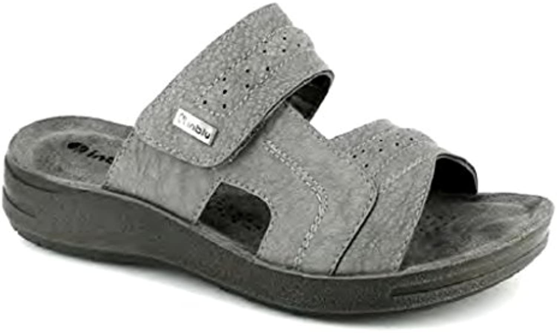 Inblu - Zapatillas de Estar por casa de Material Sintético para Hombre Gris Gris 39 EU