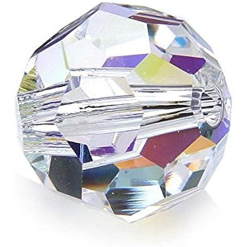 Swarovski perla 5000, rotonda, 10 mm, 4 pcs,, 01 crystal AB