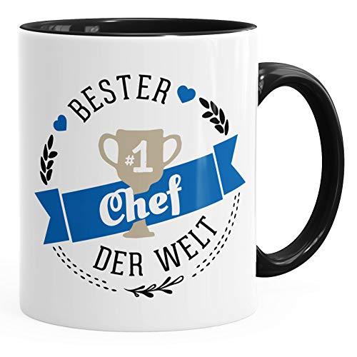 Kaffee-Tasse bester Chef der Welt Geschenk für Chef MoonWorks® schwarz unisize