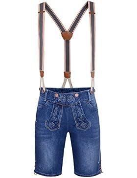 Hangowear Jeans-Lederhose Lorenz in Blau