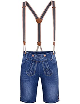Jeans-Lederhose Ammersee in Blau von Hangowear