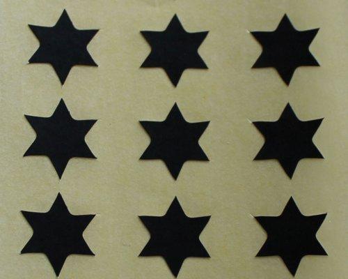 150 Etiquetas, 10mm Forma De Estrella, Negro, Pegatinas Autoadhesivas, Minilabel Formas