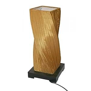 Sun D Koh Lampe Carre Tissu Drape Jaune Moutarde 55 Cm Amazon Fr