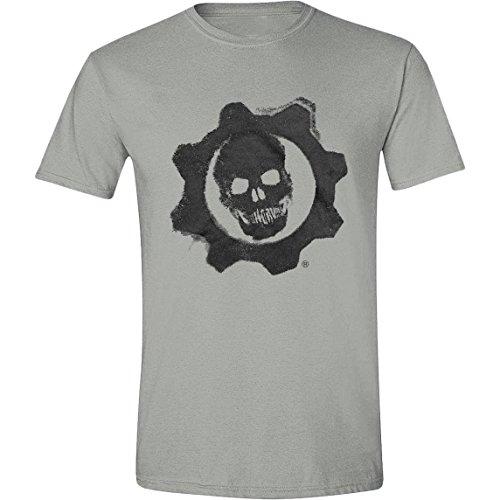 Gears Of War 4-Crimson Omen maglietta da uomo, colore: grigio Melange Grey Melange Medium