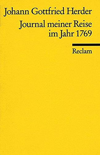 Journal meiner Reise im Jahr 1769 (Reclams Universal-Bibliothek)