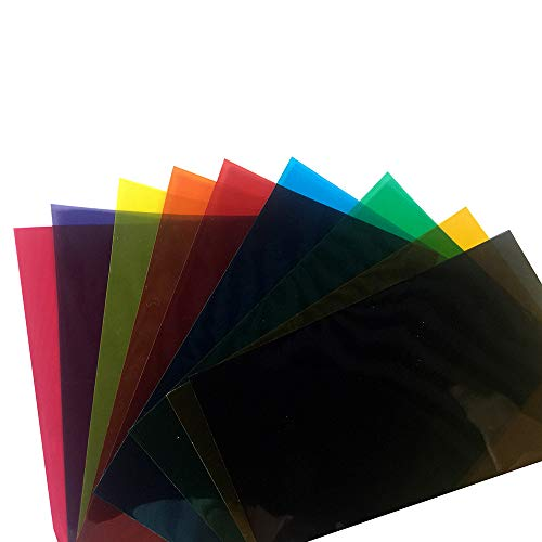 HOHO Farben 9Stück transparent mit Fensterfolie adheisve aus Glas mit Tint A4-21cmx29.7cm