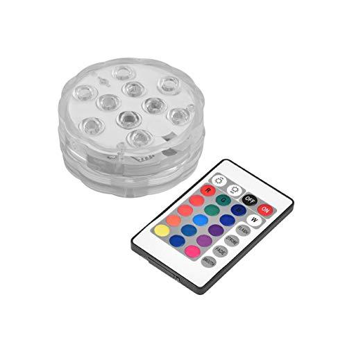 MachinYeseed RGB 10-LED Tauchwasserdichte Geburtstag Hochzeit Halloween Weihnachtsfeier Dekoration Licht Fernbedienung (weiß)