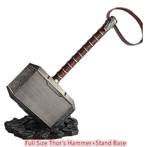 POMUTRE 45cm 1:1 Thor\'s Hammer Endgame Odinson Waffe Hammer Captain Cosplay Zubehör Krieger, Donnergott, Fasching, Wikinger LARP