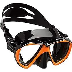 Cressi Ranger Mask Masque plongée Mixte Adulte Unisexe, Noir/Orange, Unique
