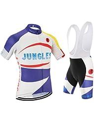 [Cojín 3D][traje[strap blancas] tamaño:5XL] ropa rendimiento para hombres Jerseys chaleco transpirable ciclismo manga rompevientos de los maillot corta